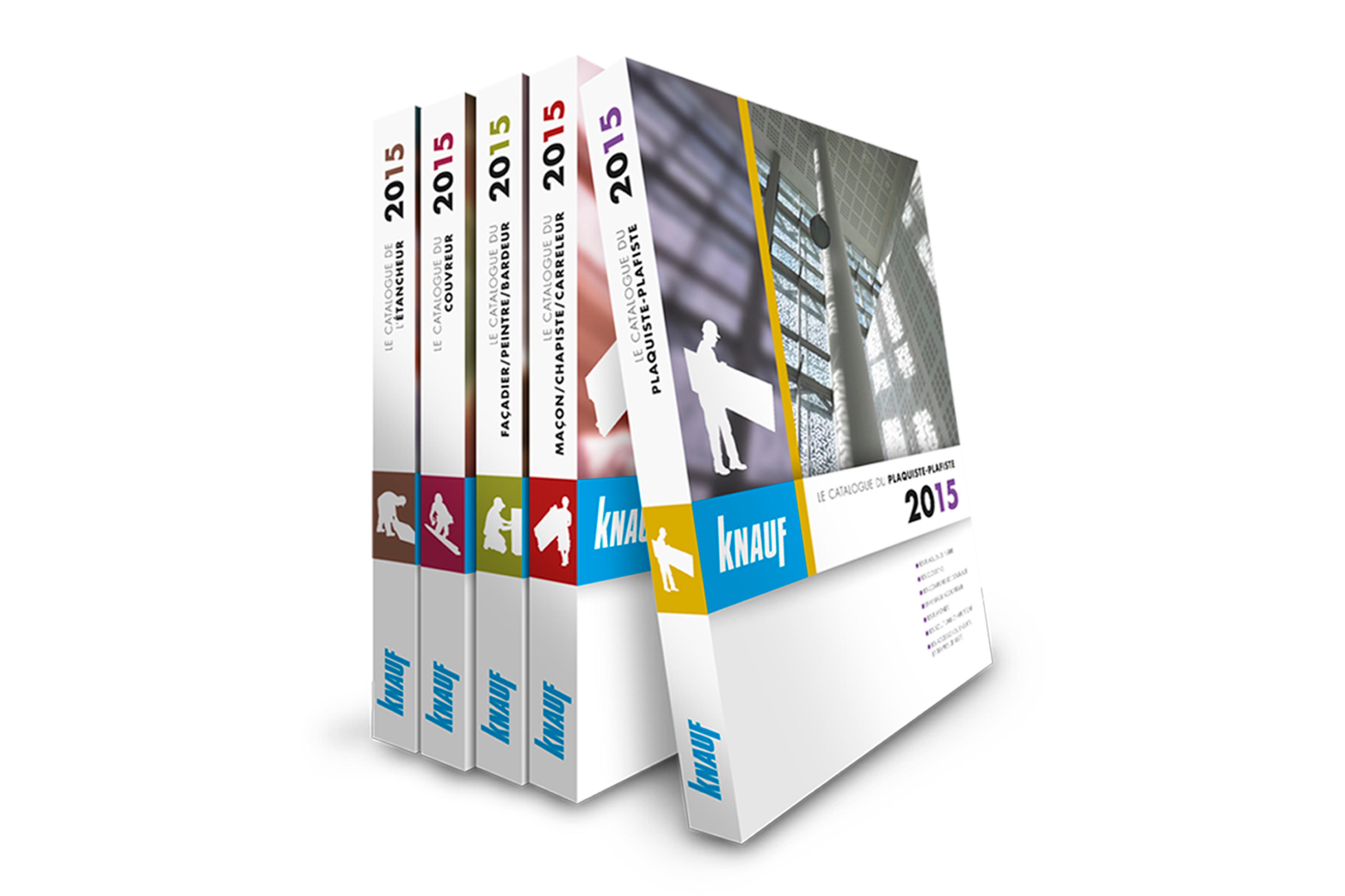 Réalisation des catalogues professionels Knauf  / Client : Terre de Com