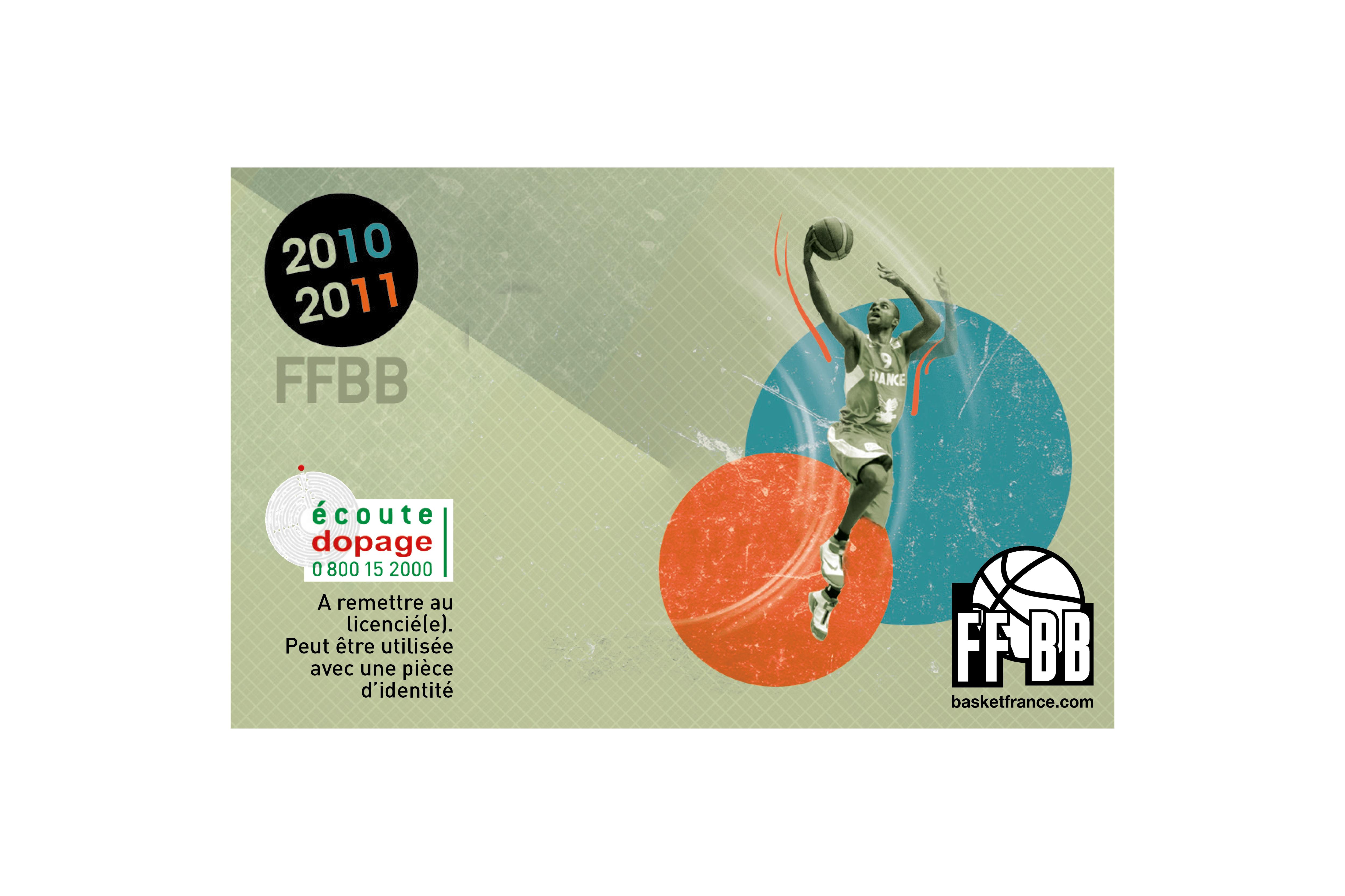 Création d'un visuel pour une carte  de membre de la FFBB / Client : Agence Bolivie