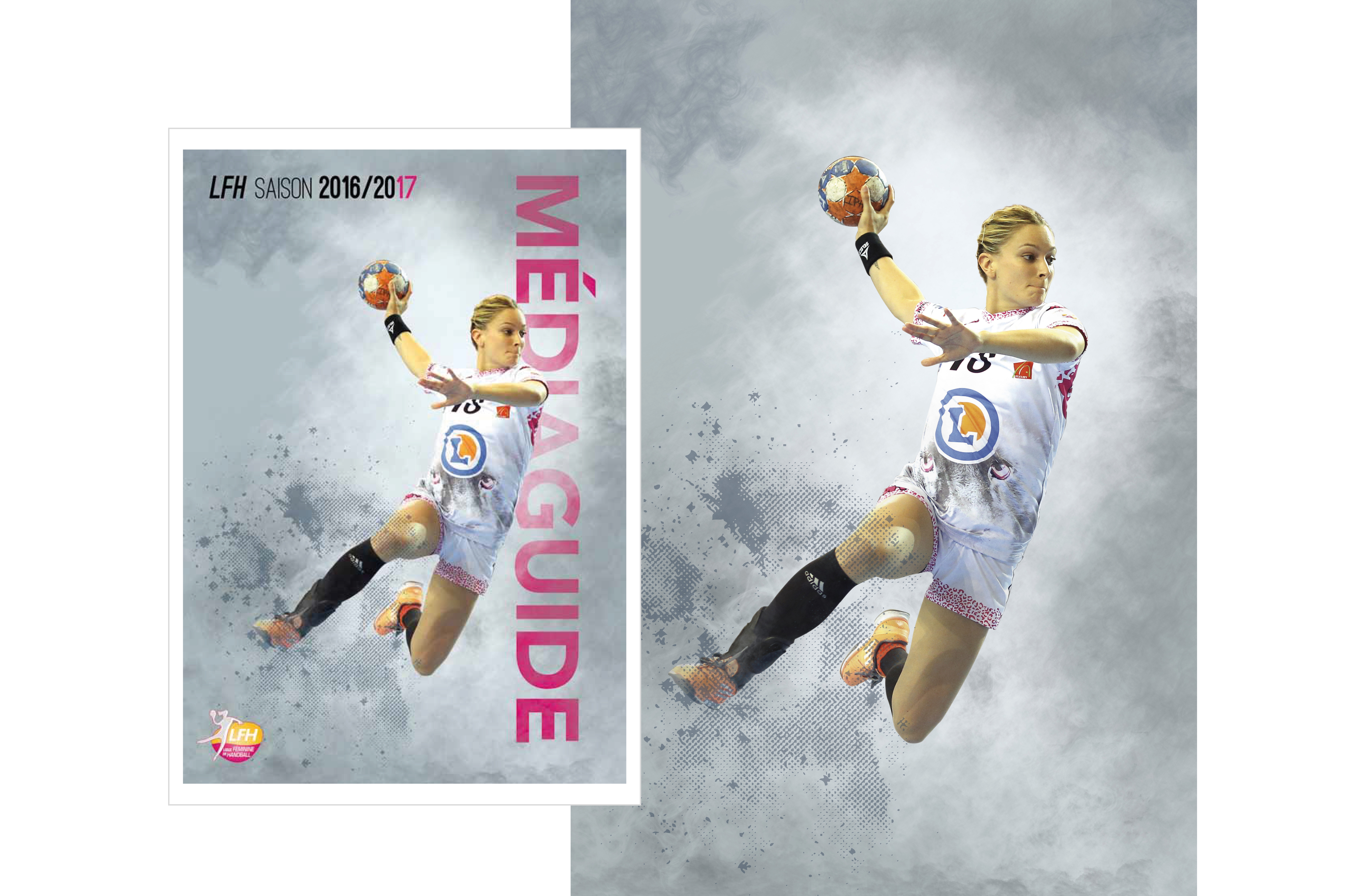 Création d'un visuel pour un annuaire  de la Ligue Féminine de Handball / Client : agence Bolivie
